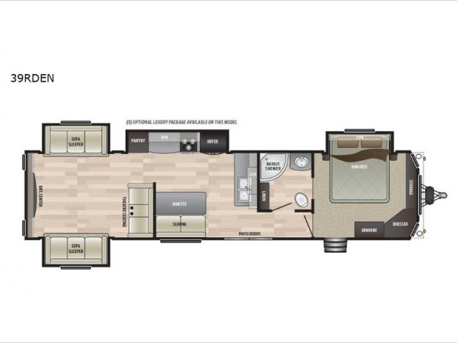 New 2020 Keystone RV Retreat Floorplan