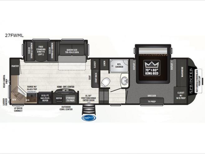 NEW 2020 KEYSTONE RV SPRINTER floorplan