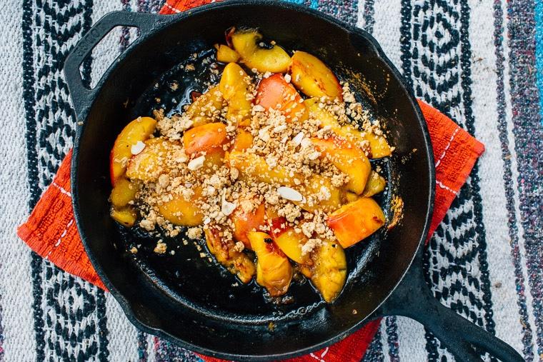 Campfire-Peach-Cobbler-with-Brown-Sugar-Bourbon-Sauce