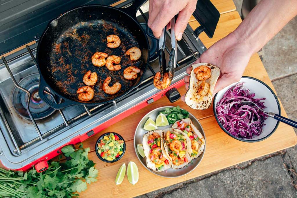 Cajun-Shrimp-Tacos-Camping-Recipe